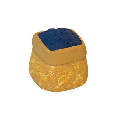 Blåbärskorg tillhörande Tomtefamiljen från Yourstone Keramik