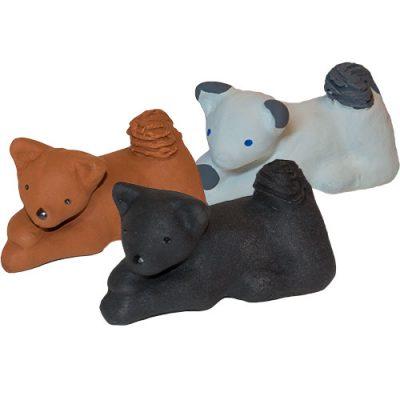 Hundar tillhörande Tomtefamiljen från Yourstone Keramik
