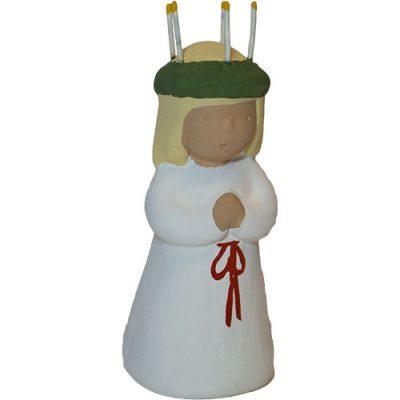 Lucia tillhörande Luciatåget från Yourstone Keramik